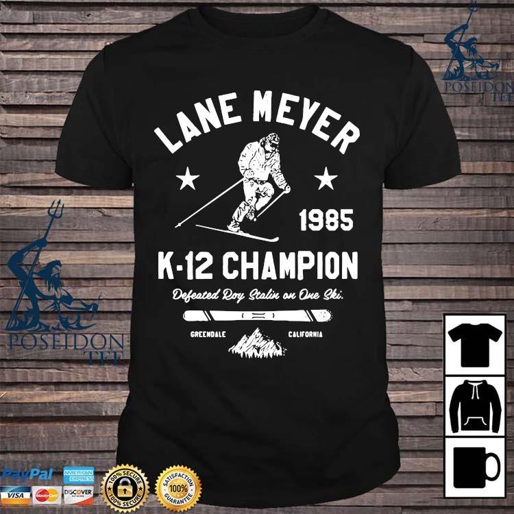 Lane Meyer 1985 K-12 Champion Defeated Roy Stalin In One Ski Shirt