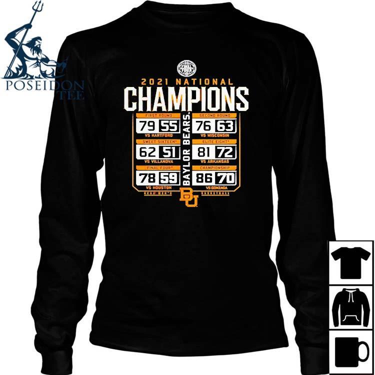 2021 Baylor Bears National Champions Basketball Shirt Long Sleeved