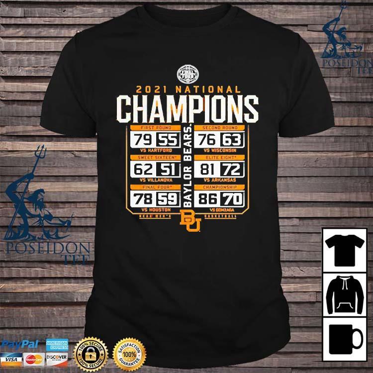 2021 Baylor Bears National Champions Basketball Shirt