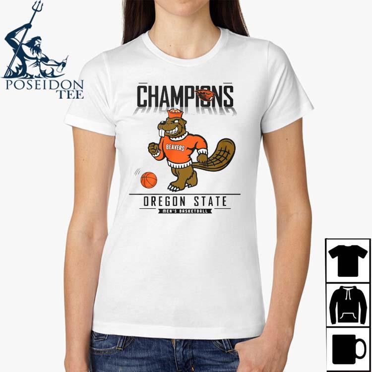 2021 Pac 12 Tournament Champions Oregon State Men's Basketball Shirt Ladies Shirt