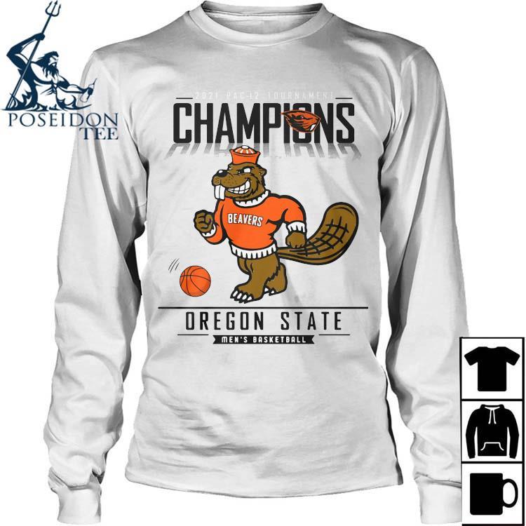 2021 Pac 12 Tournament Champions Oregon State Men's Basketball Shirt Long Sleeved