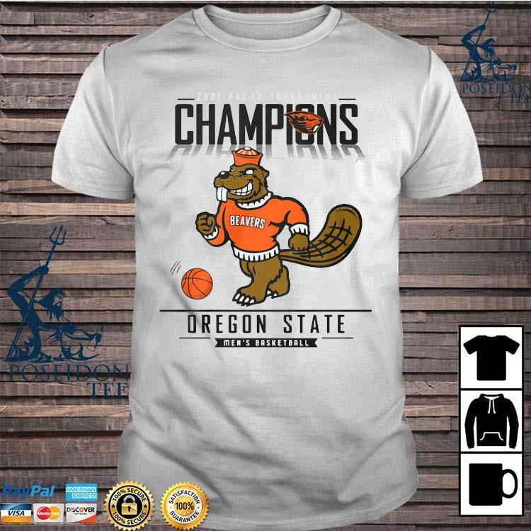 2021 Pac 12 Tournament Champions Oregon State Men's Basketball Shirt