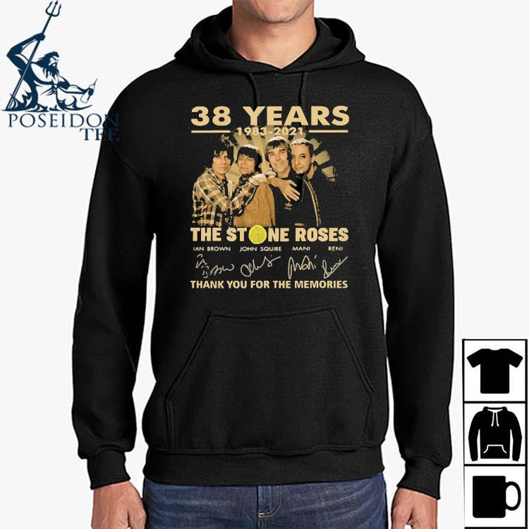 38 Years 1983 2021 The Stone Roses Thank You For The Memories Signatures Shirt Hoodie
