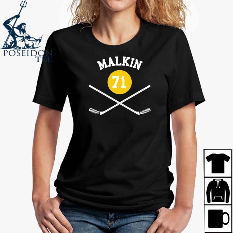 71 Evgeni Malkin Pittsburgh Sticks Shirt Ladies Shirt