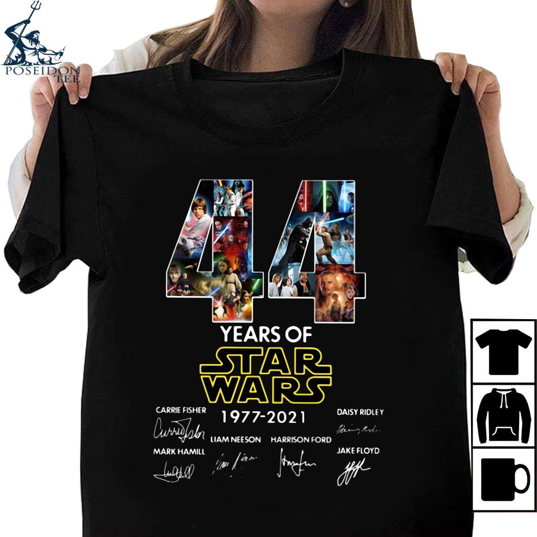 44 Years Of Star Wars 1977 2021 Signatures Shirt, Ladies tee ...
