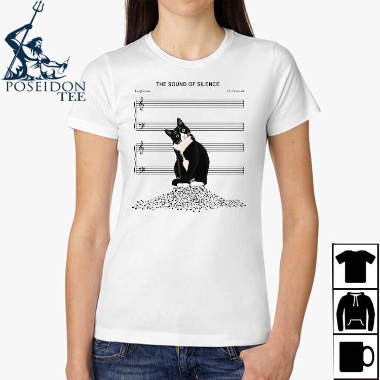 Black Cat The Sound Of Silence Shirt Ladies Shirt