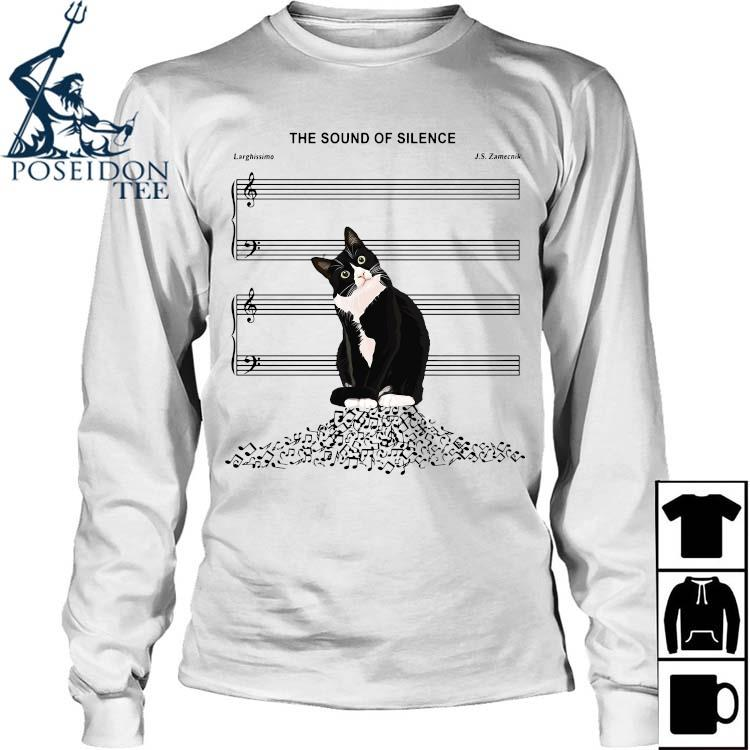 Black Cat The Sound Of Silence Shirt Long Sleeved