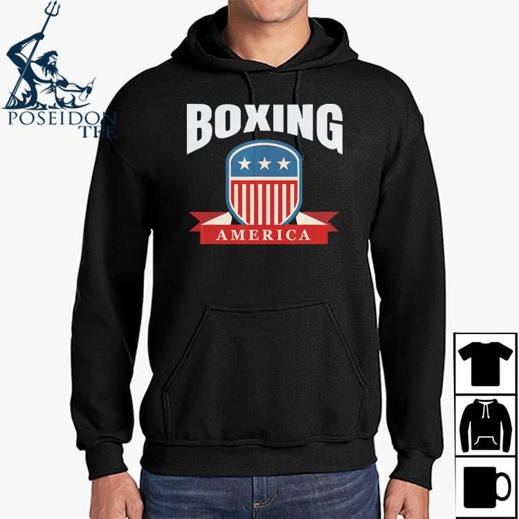Boxing America Contact Sport Ringside Apparel Usa Shirt Hoodie
