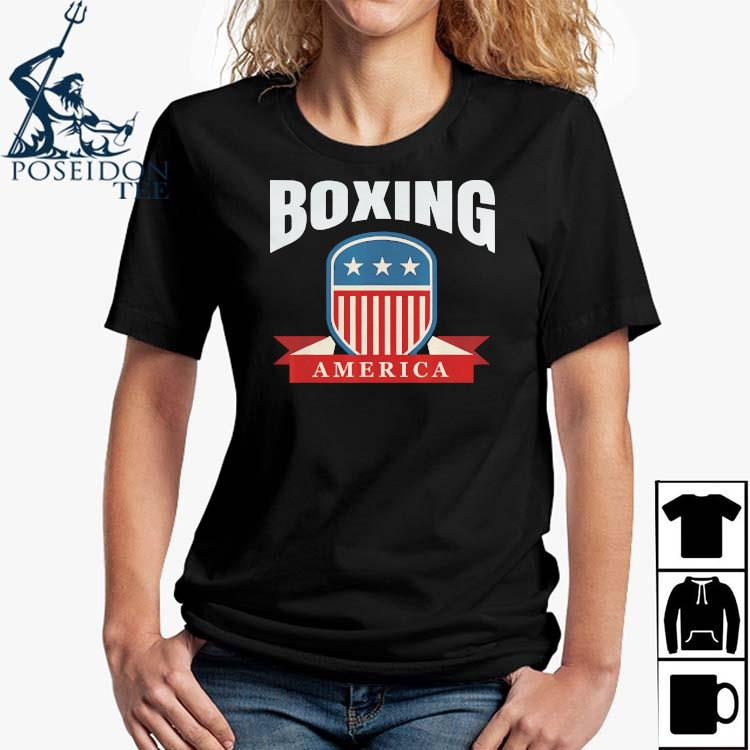 Boxing America Contact Sport Ringside Apparel Usa Shirt Ladies Shirt