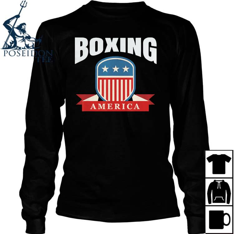 Boxing America Contact Sport Ringside Apparel Usa Shirt Long Sleeved