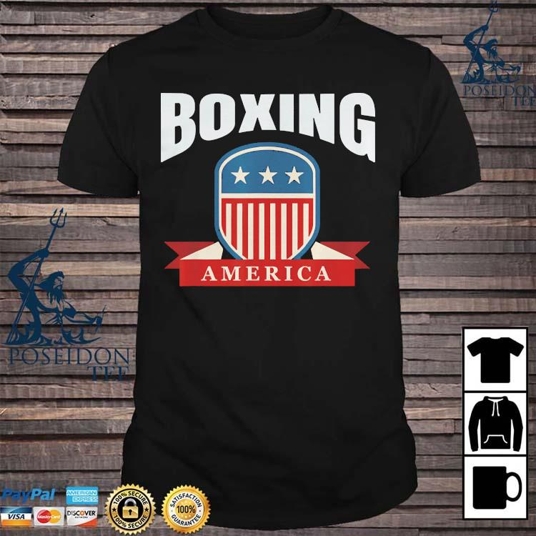 Boxing America Contact Sport Ringside Apparel Usa Shirt