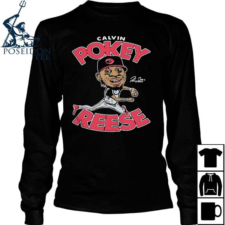 Calvin Pokey Reese Played Second Base For The Reds From Shirt Long Sleeved
