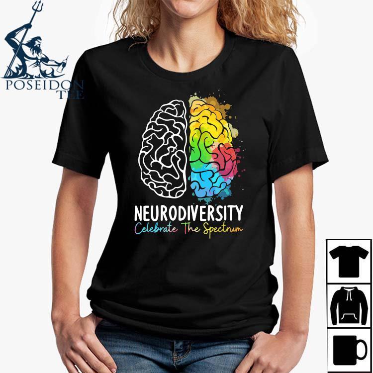 Neurodiversity Celebrate The Spectrum Shirt Ladies Shirt