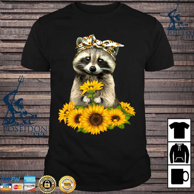 Raccoon Hug Sunflower Shirt