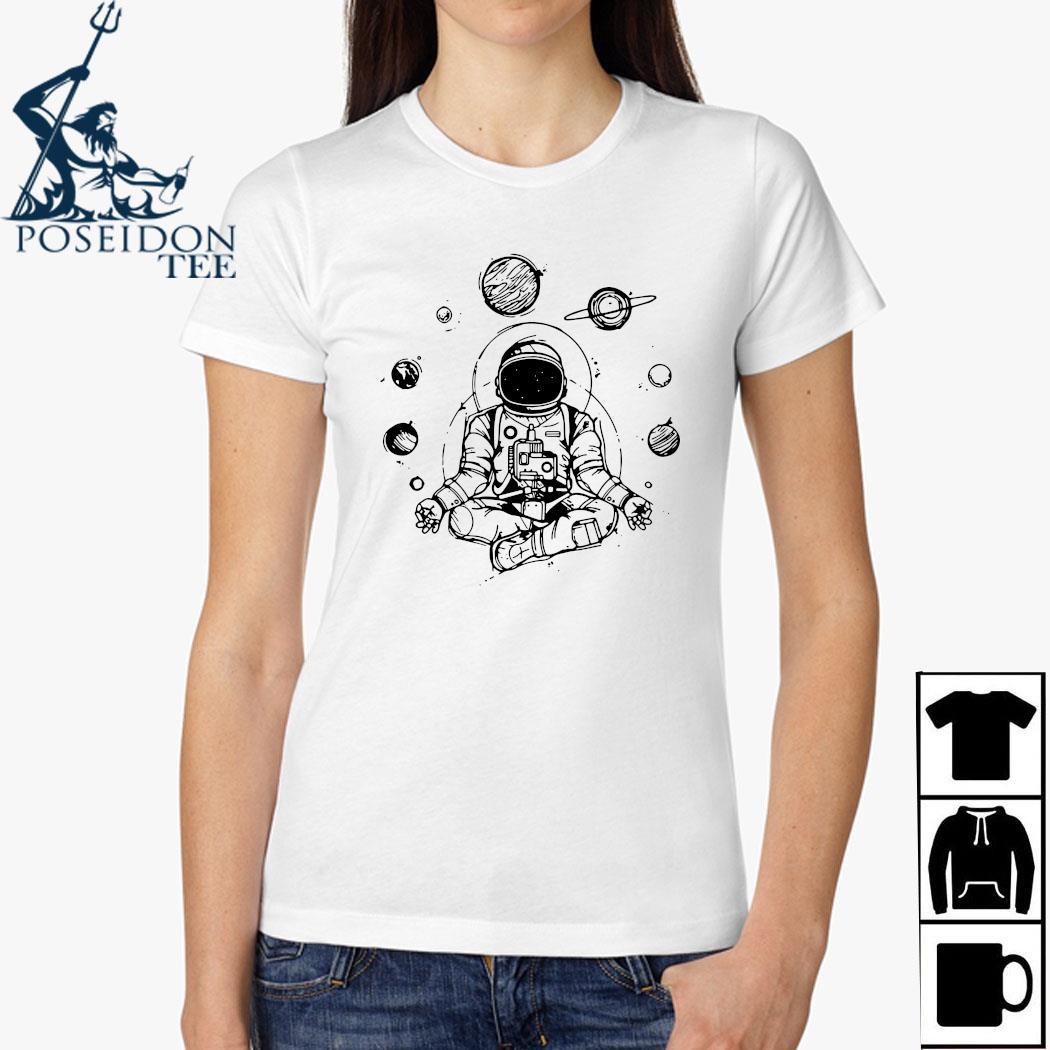 Astronaut Yoga Spiritual Space Shirt Ladies Shirt