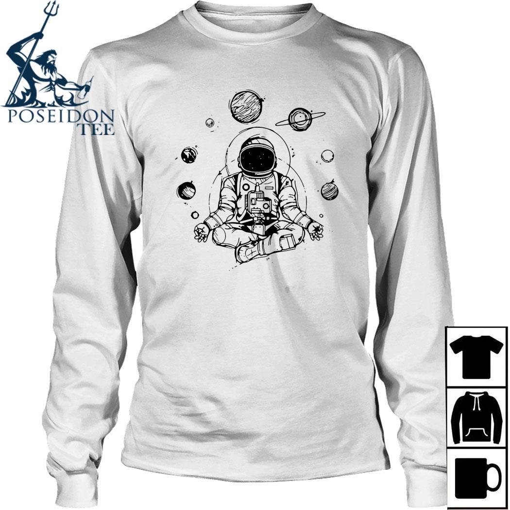 Astronaut Yoga Spiritual Space Shirt Long Sleeved