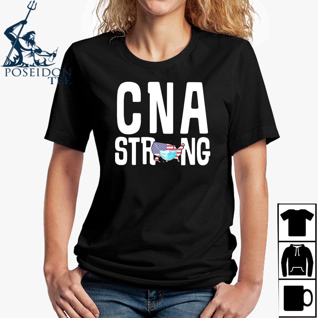 CNA Strong American Map Mask Covid-19 Shirt Ladies Shirt