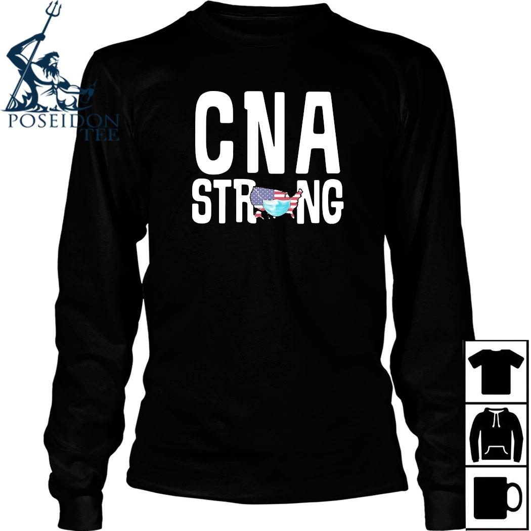 CNA Strong American Map Mask Covid-19 Shirt Long Sleeved