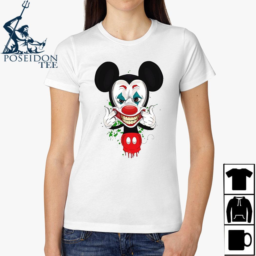 Mickey Mouse Joker Face Shirt Ladies Shirt
