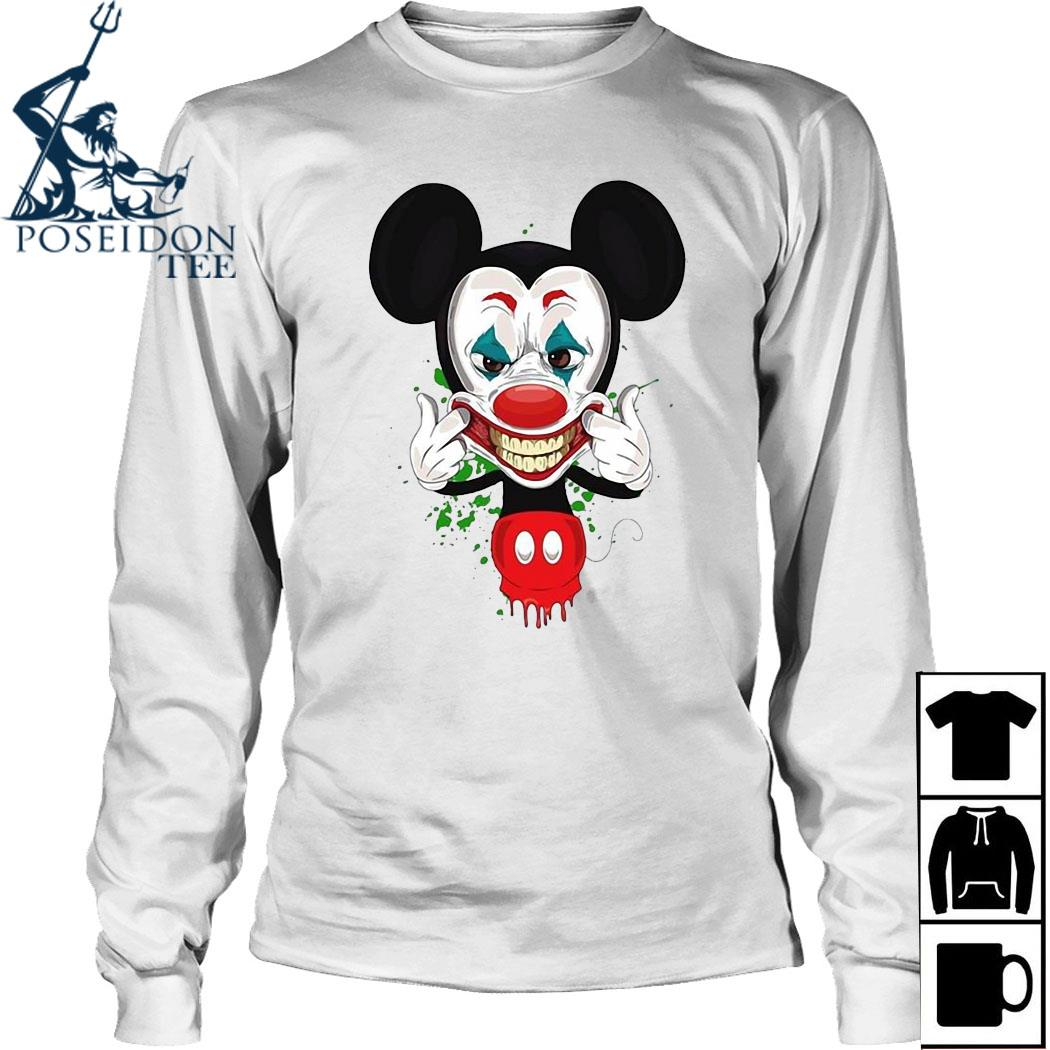 Mickey Mouse Joker Face Shirt Long Sleeved