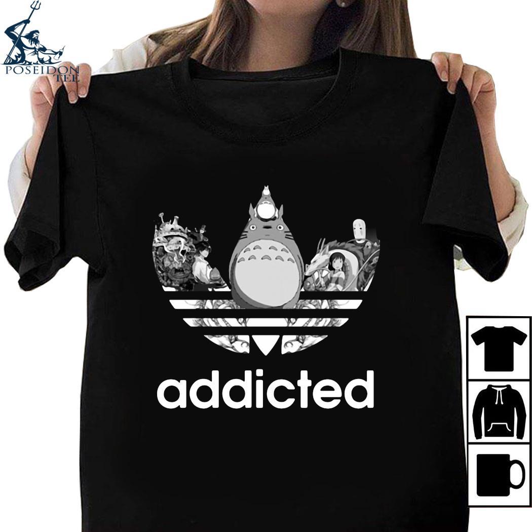 Totoro Addicted Adidas Ghibli Shirt