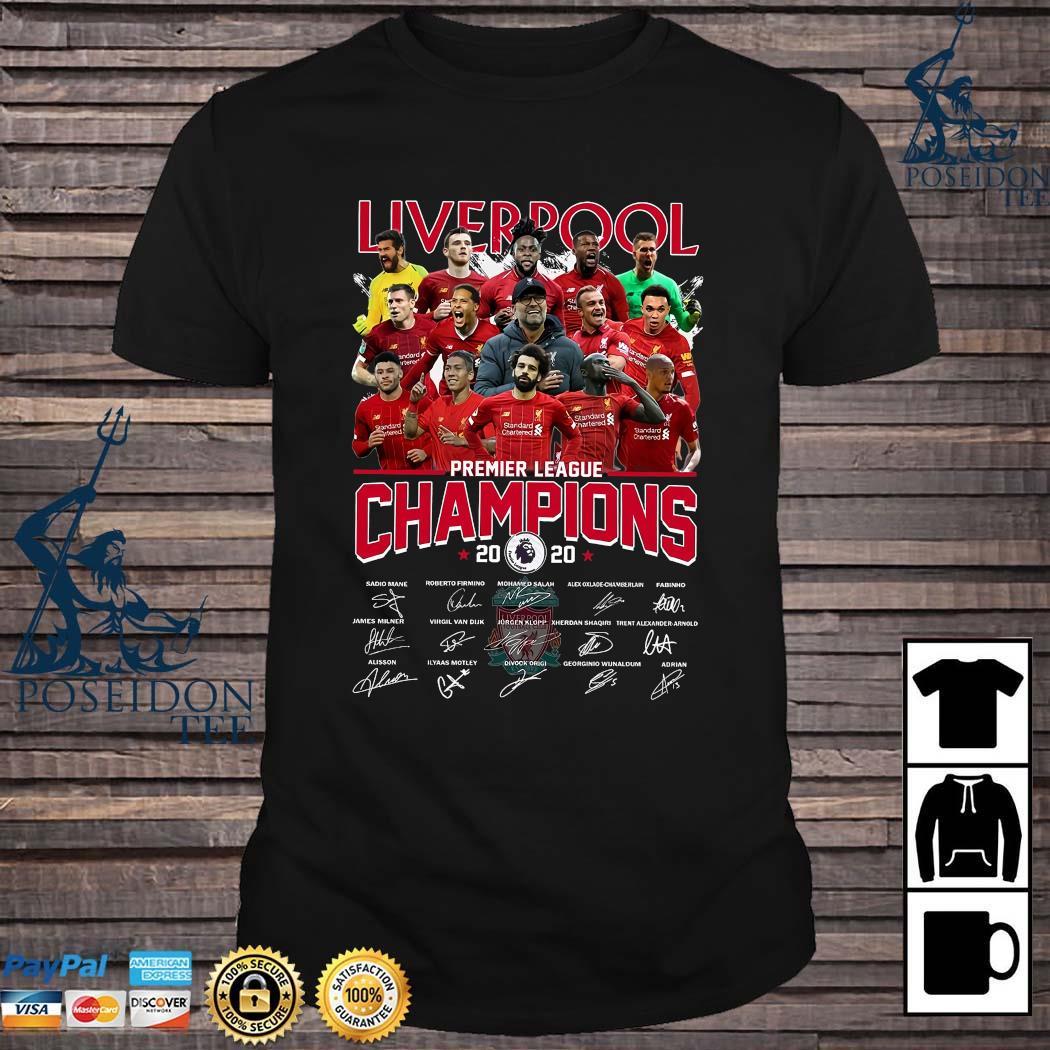 Liverpool Premier League Champions 2020 Signatures Shirt