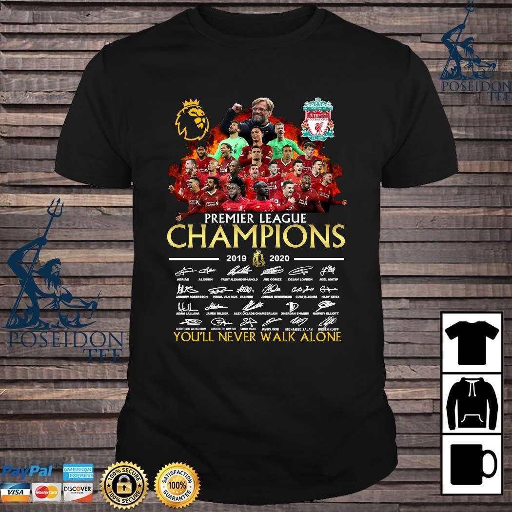 Premier League Champions 2019 2020 You'll Never Walk Alone Signatures Shirt