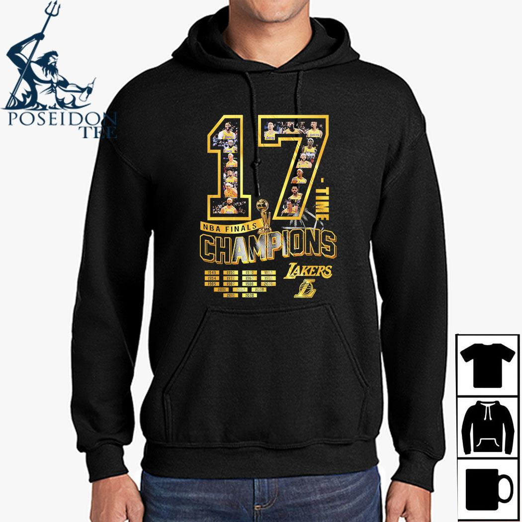 17 Time NBA Finals Champions Lakers Shirt Hoodie