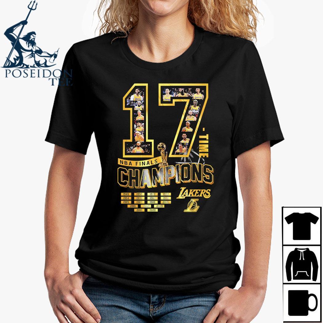 17 Time NBA Finals Champions Lakers Shirt Ladies Shirt