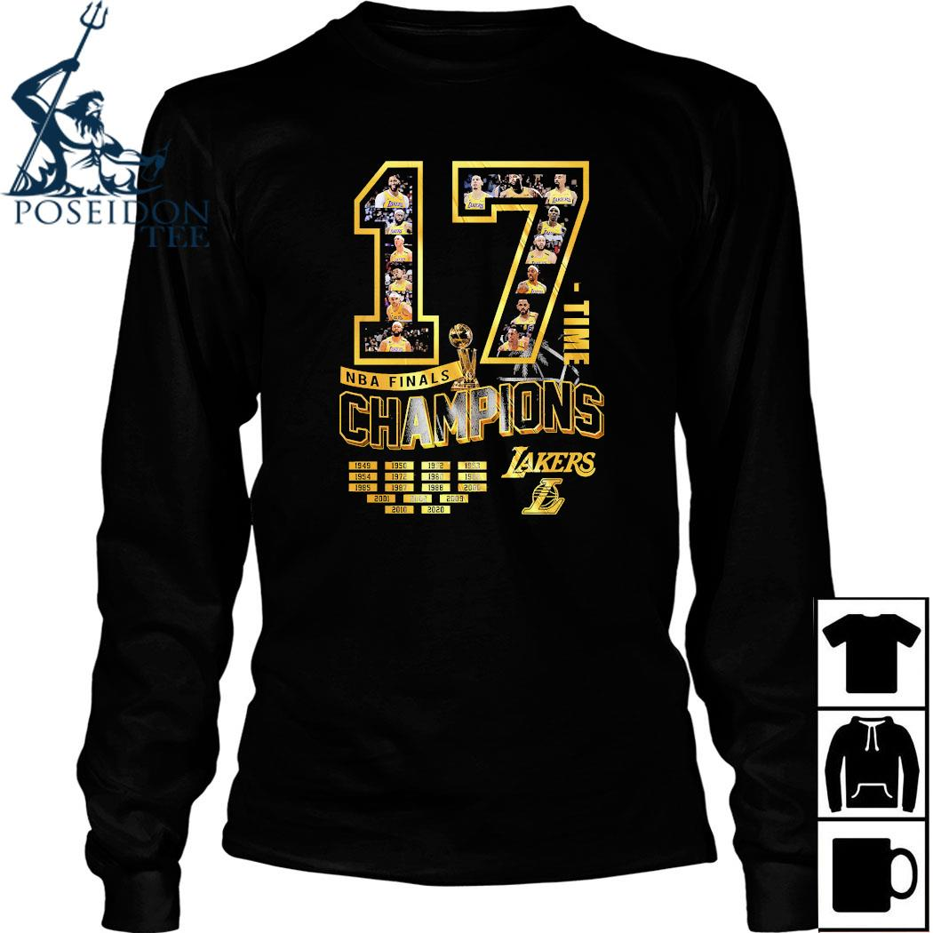 17 Time NBA Finals Champions Lakers Shirt Long Sleeved