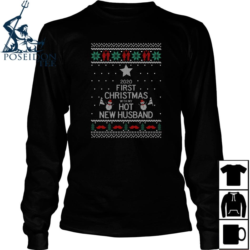 2020 First Christmas With My Hot New Husband Ugly Shirt Long Sleeved