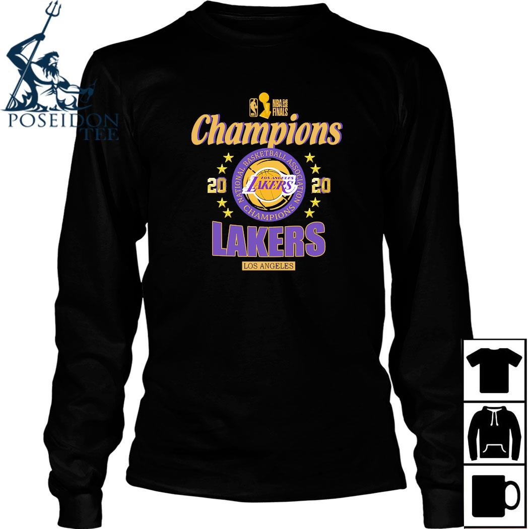 2020 Los Angeles Lakers National Basketball Association Champions Shirt Long Sleeved