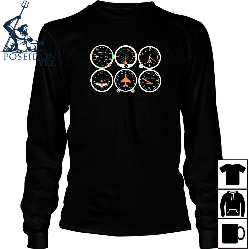 Airplane Basic Instruments Shirt Long Sleeved
