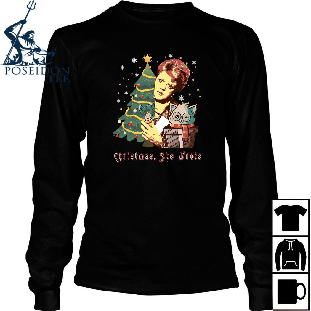Angela Lansbury Christmas She Wrote Shirt Long Sleeved