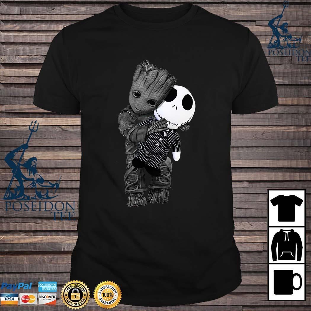 Baby Groot Hug Jack Skellington Shirt