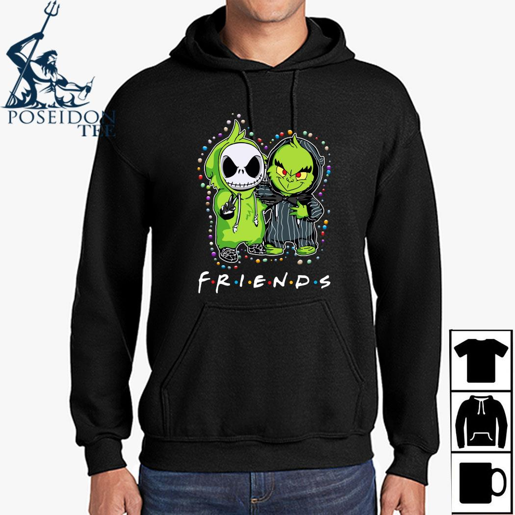 Baby Jack Skeleton And Baby Green Friends Light Christmas Shirt Hoodie