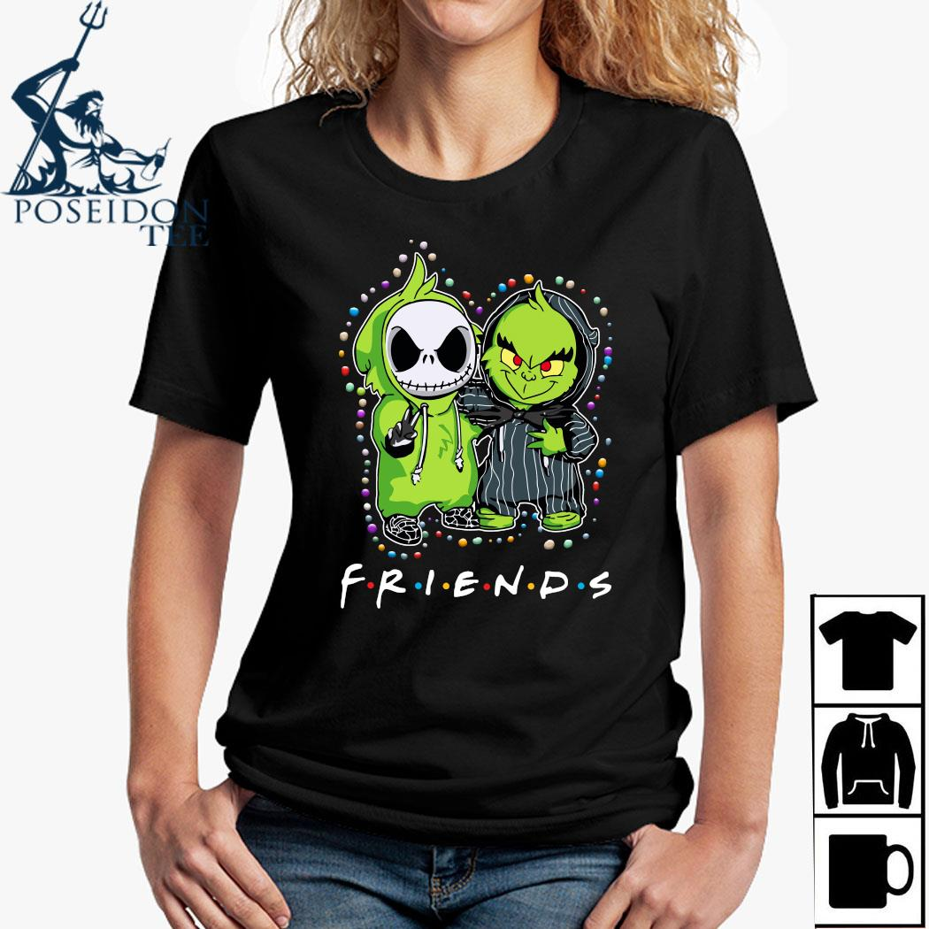 Baby Jack Skeleton And Baby Green Friends Light Christmas Shirt Ladies Shirt