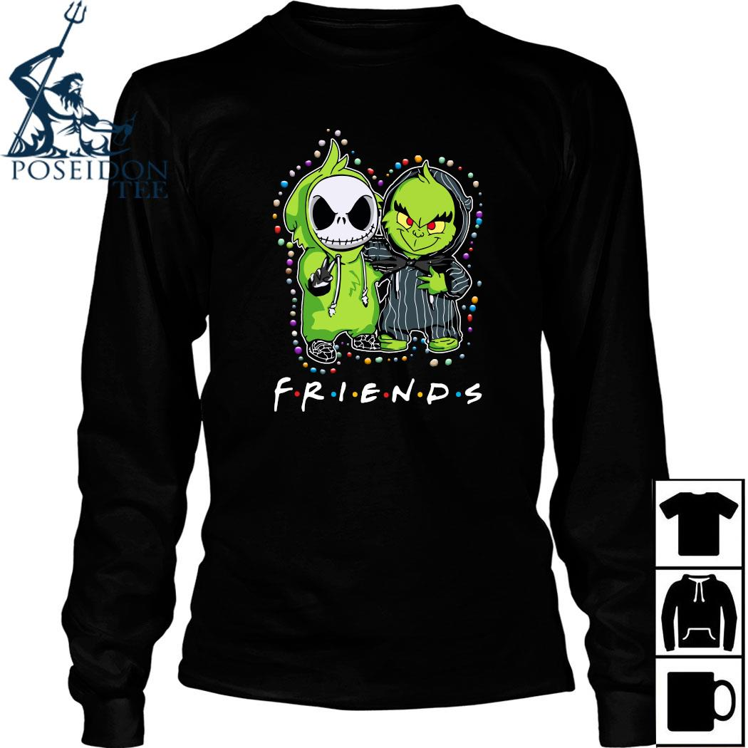 Baby Jack Skeleton And Baby Green Friends Light Christmas Shirt Long Sleeved