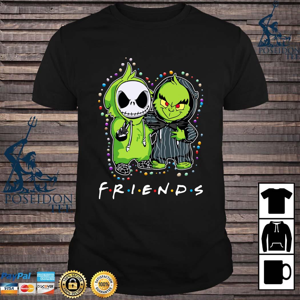 Baby Jack Skeleton And Baby Green Friends Light Christmas Shirt