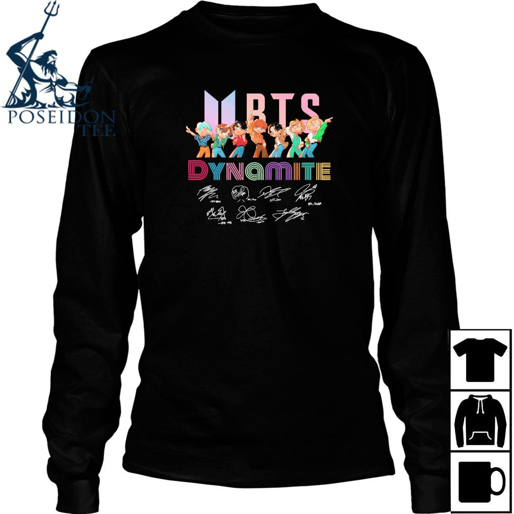 BTS Chibi Dynamite Signatures Shirt Long Sleeved