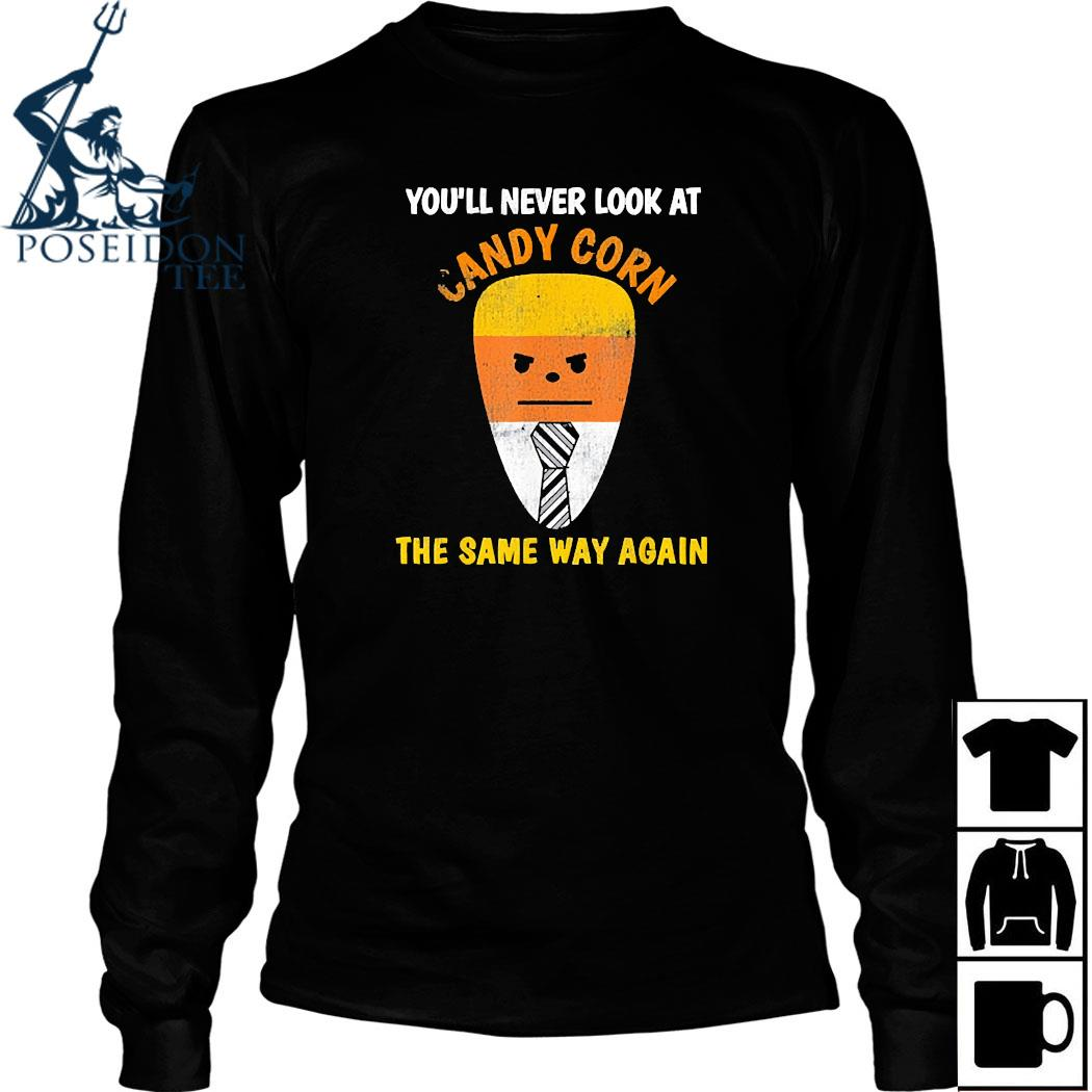 Candy Corn Trump Costume Halloween Candy Shirt Long Sleeved