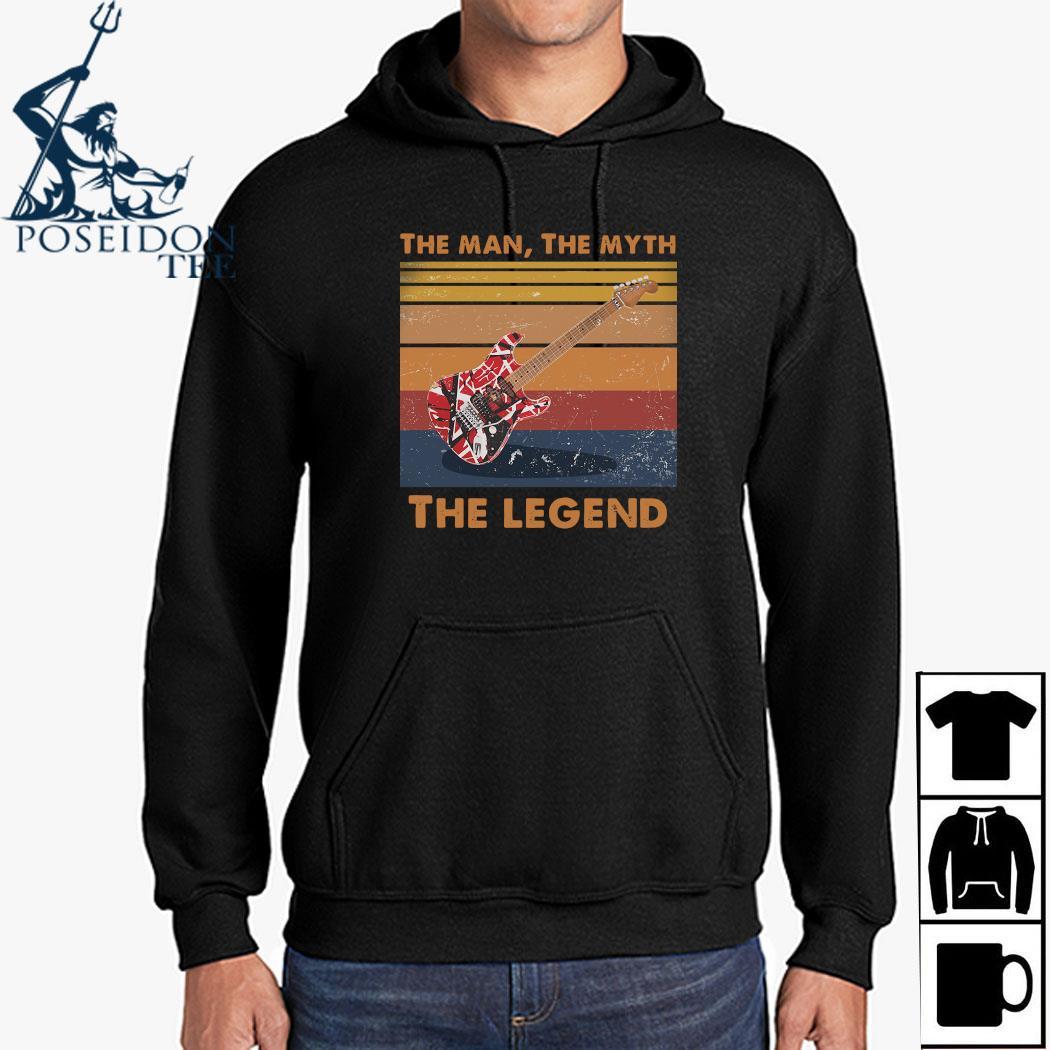 Eddie Van Halen Guitar The Man The Myth The Legend Vintage Shirt Hoodie