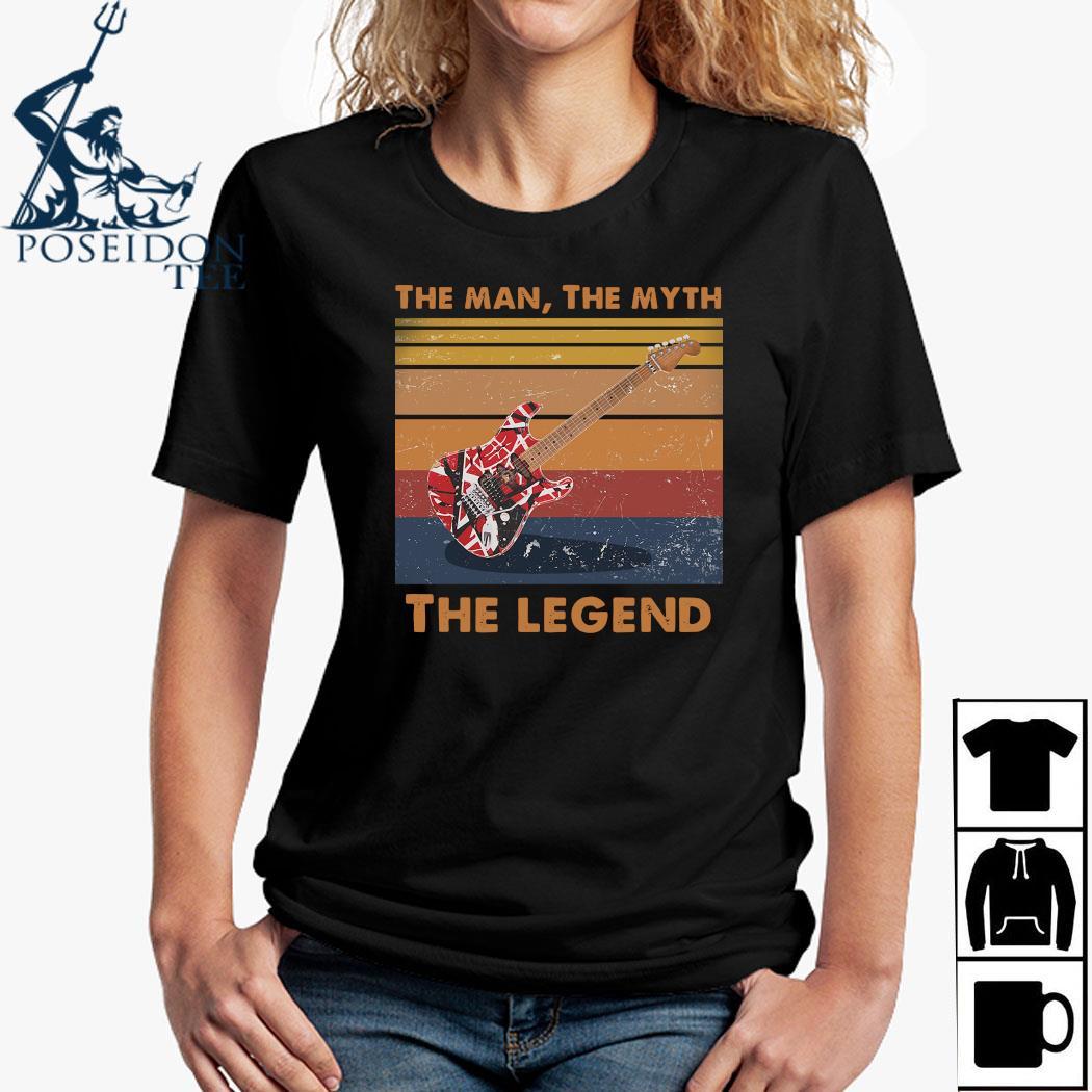 Eddie Van Halen Guitar The Man The Myth The Legend Vintage Shirt Ladies Shirt