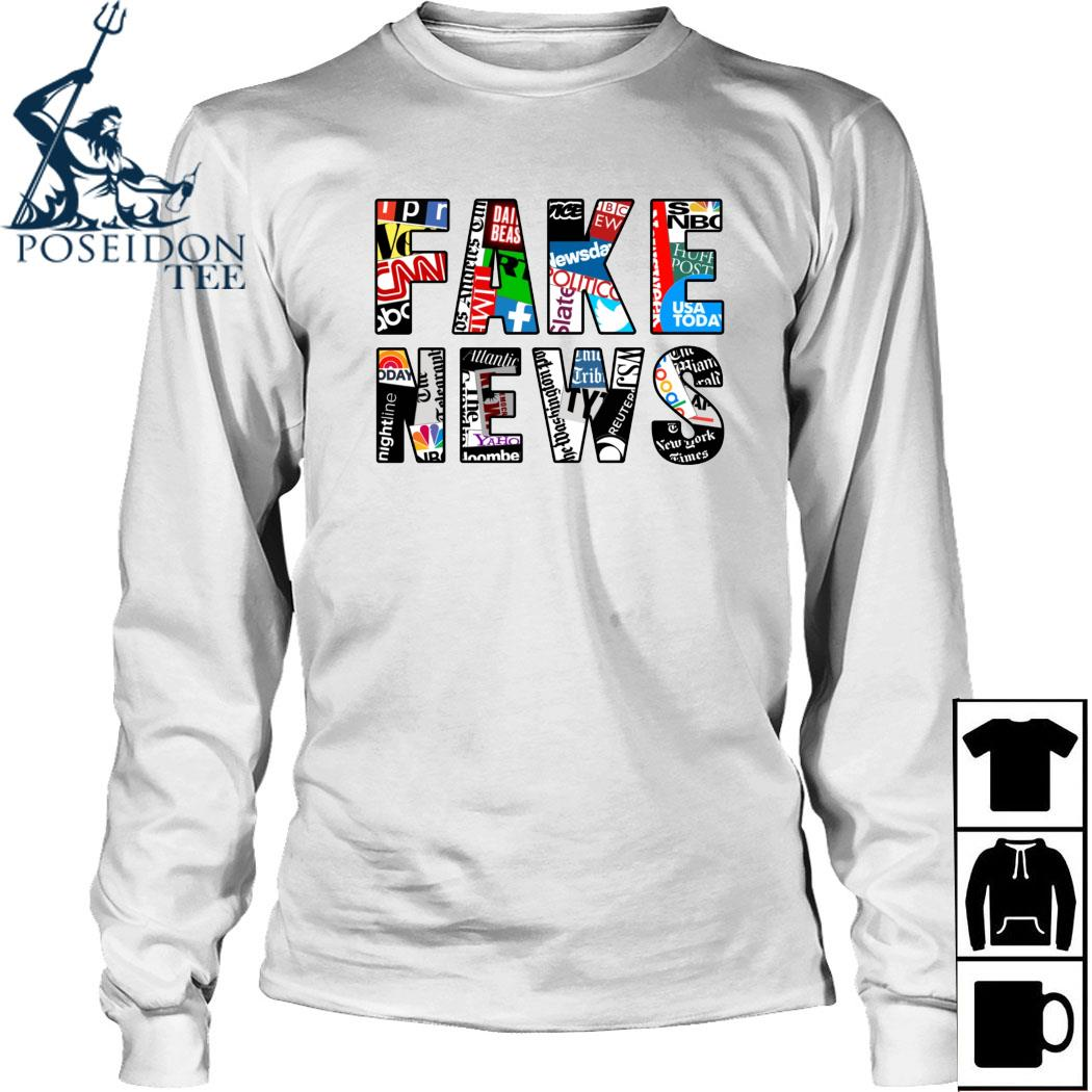 Fake News Media Shirt Long Sleeved