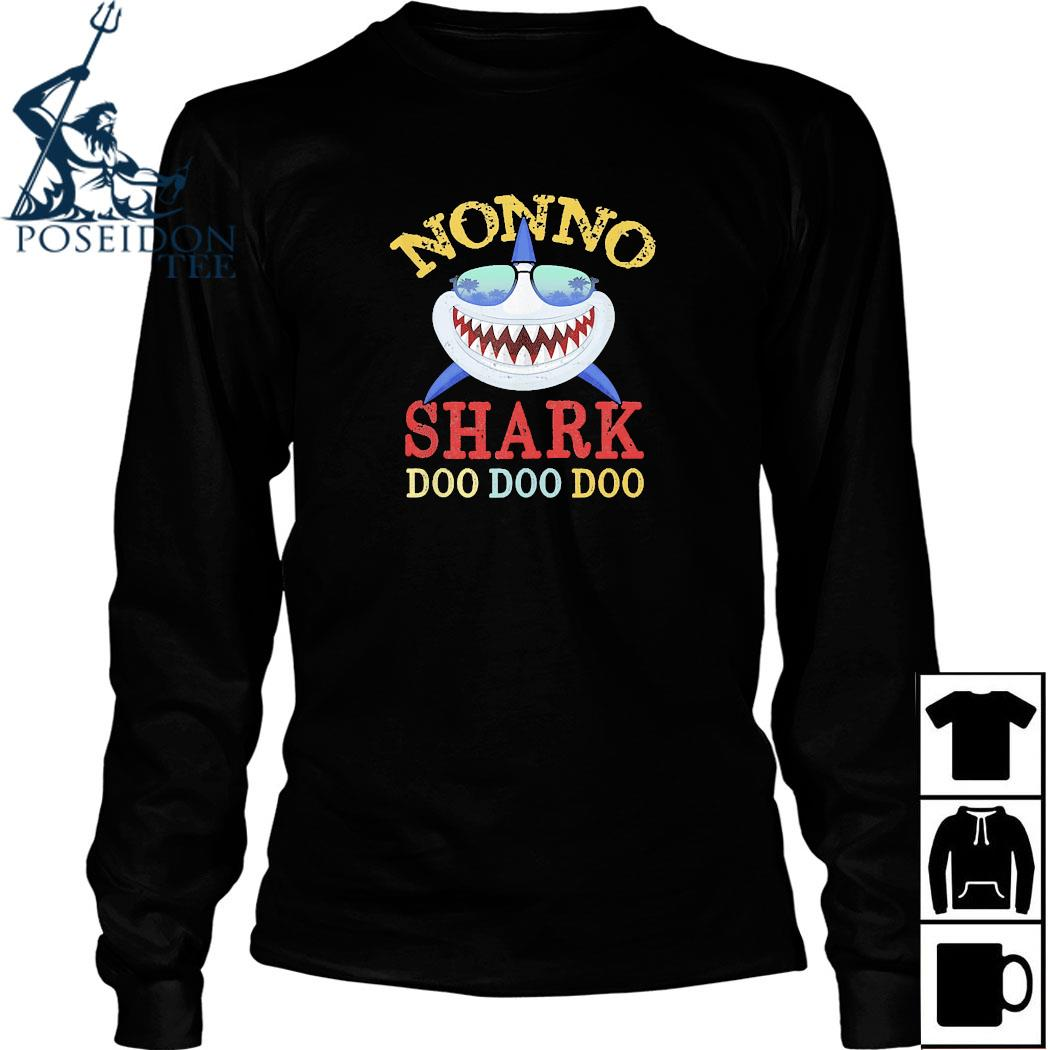 Family 365 Nonno Shark Father's Day Shirt Long Sleeved