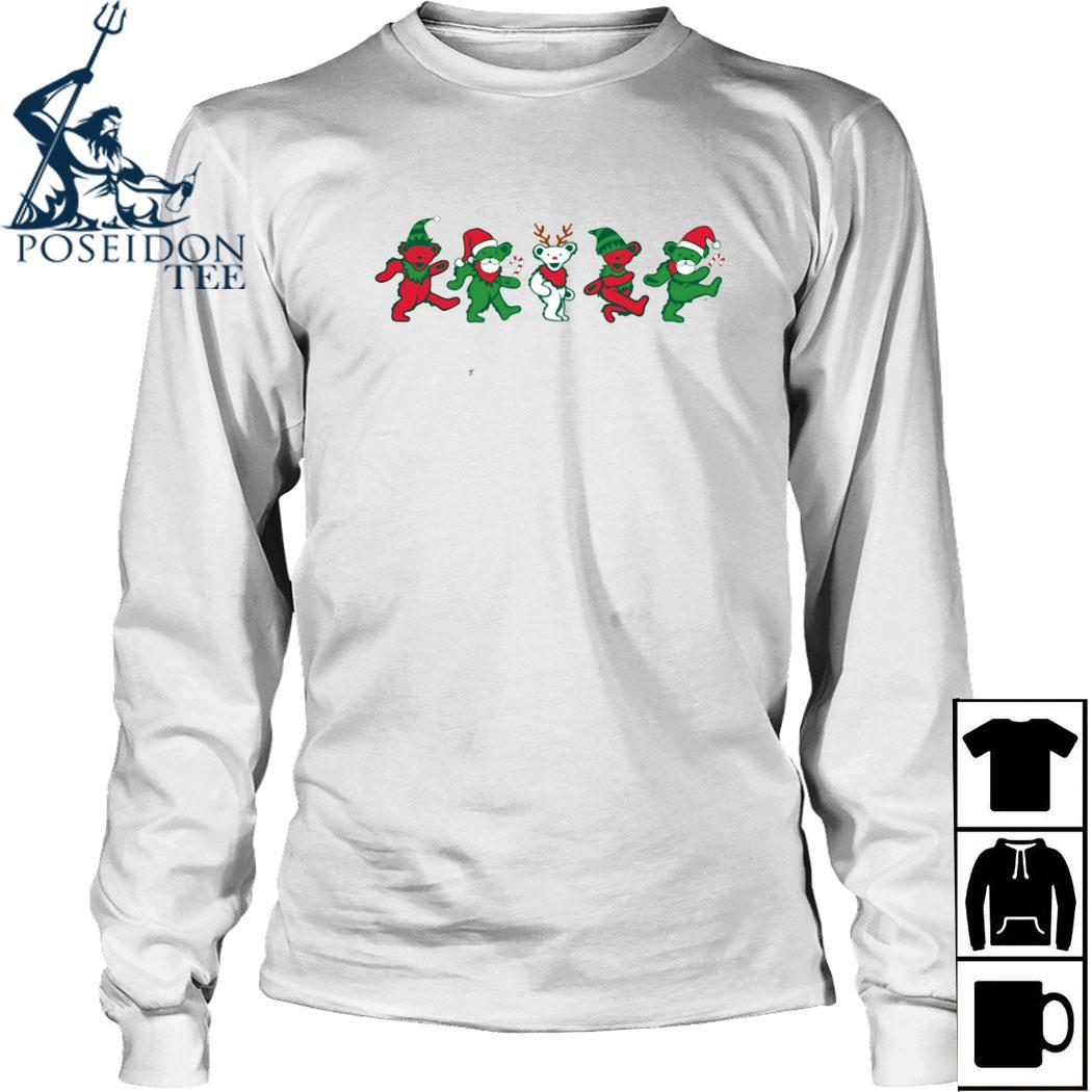 Grateful Dead Bear Christmas Shirt Long Sleeved