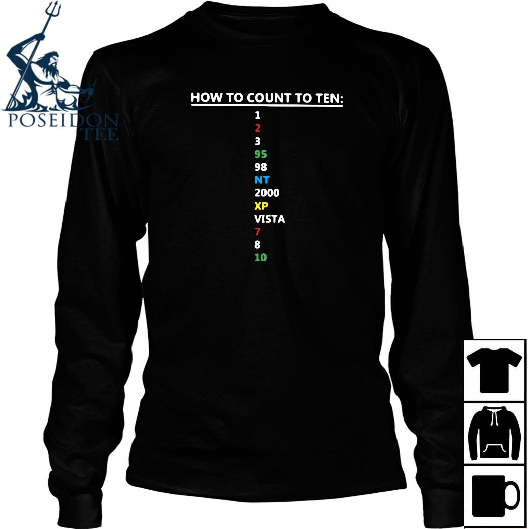 How To Count To Ten In Software Shirt Long Sleeved