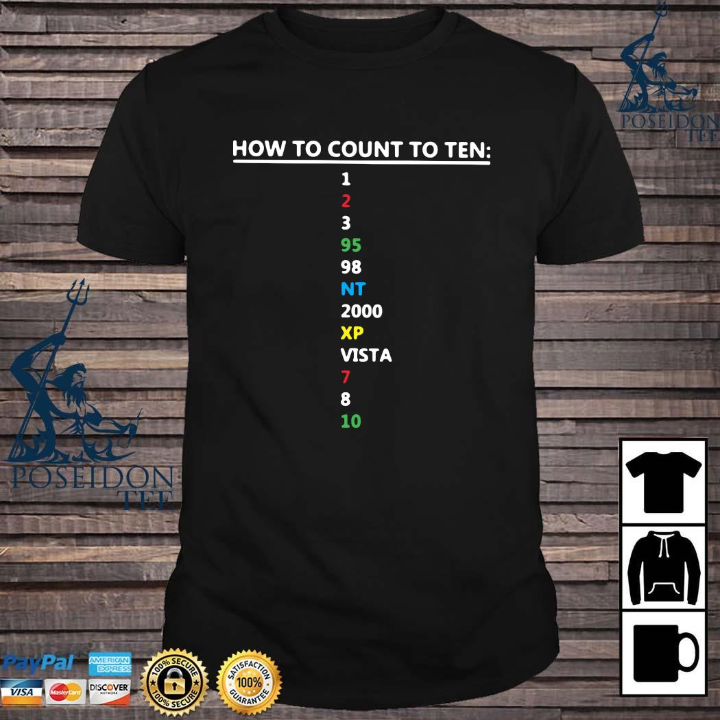 How To Count To Ten In Software Shirt