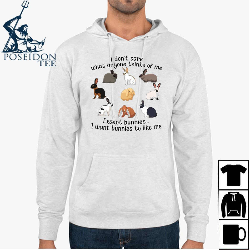 I Don't Care What Anyone Thinks Of Me Except Bunnies I Want Bunnies To Like Me Shirt Hoodie