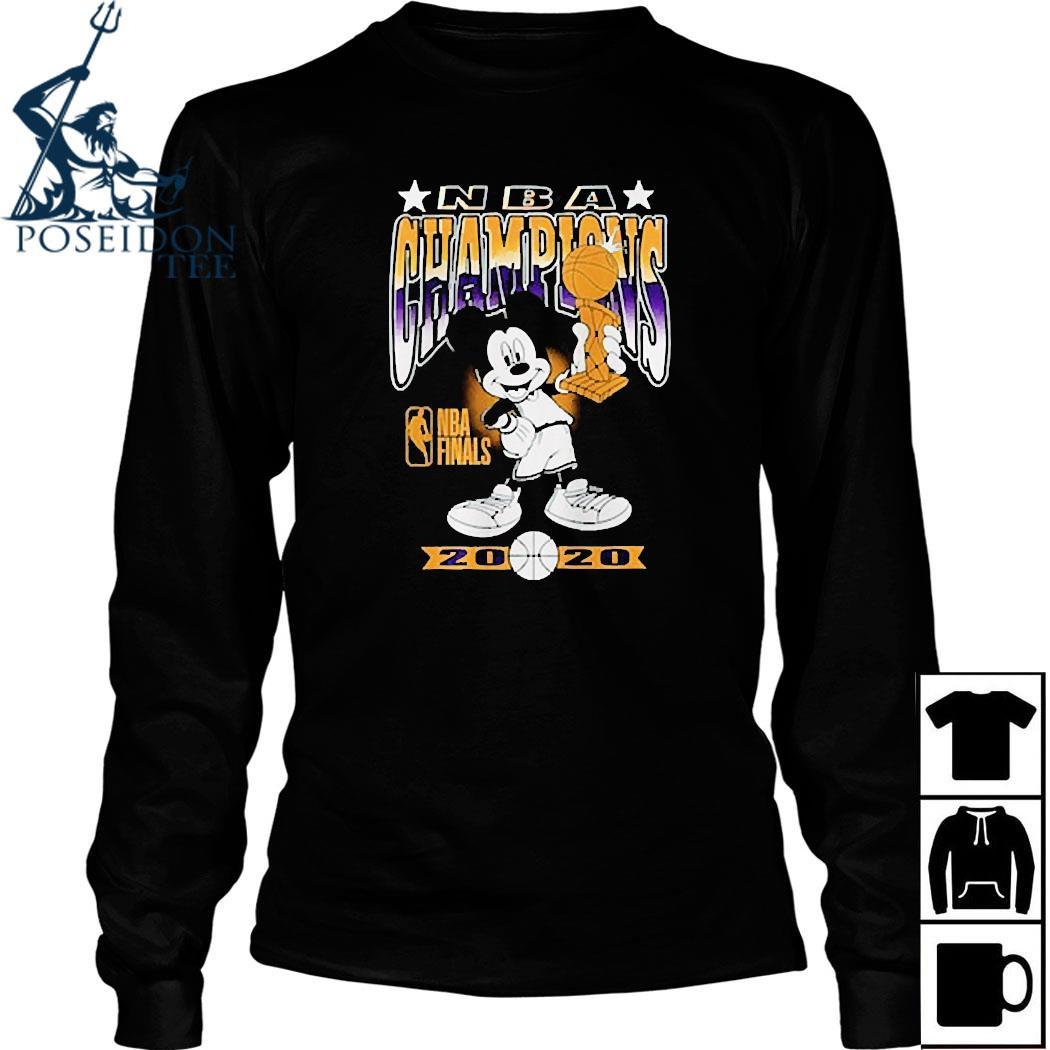 Lakers Mickey Mouse NBA Champions 2020 Shirt Long Sleeved